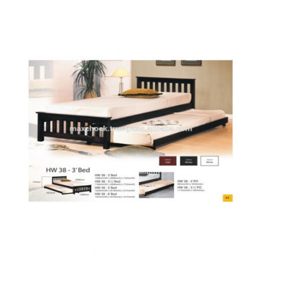 Full Solid Wood Modern Bed Frame HW38