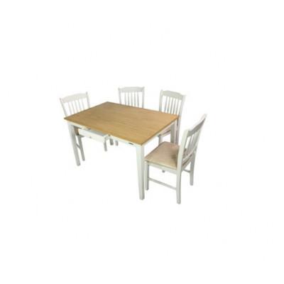 Modern Solid Wood 1200L X 800W X 750H Emilia Dining Table Malaysia