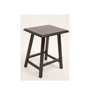 Black/White/Red Modern Solid Wood 406D X 482W X 609H Side Table Malaysia