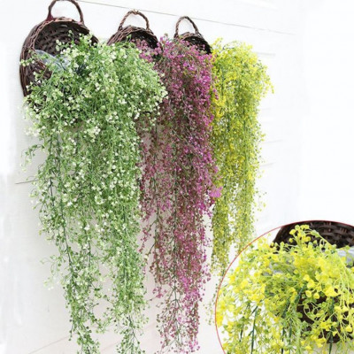Artificial fake silk flower vine hanging garland plant