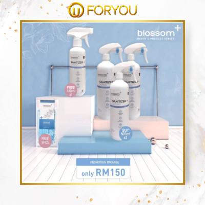 BLOSSOM+ Sanitizer Spray- Ultra Fine Sprayer Package (Normal 500ml x 2 + Ultra Fine 300ml x 1)
