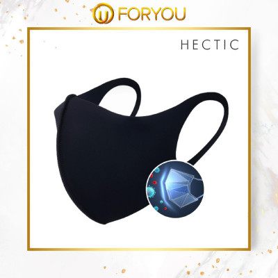 HECTIC ESTOPE Washable Anti-Bacterial UV Shield Fabric Face Mask