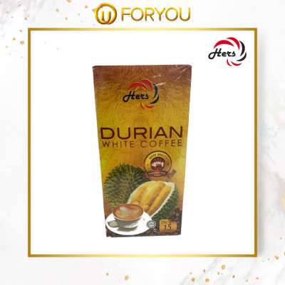 HERS 4 in 1 Durian Instant White Coffee (15s x 25g)