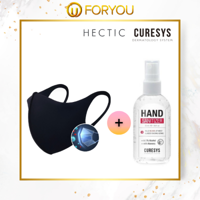 HECTIC Estope Mask (1pc) + CURESYS Hand Sanitizer (50ml)