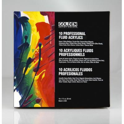 Golden Acrylic Paint Set - 10Z Fluid Set